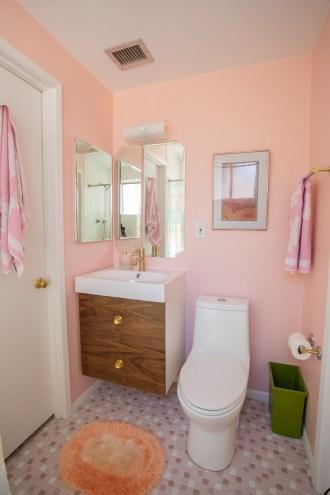 Pink Midcentury Bathroom