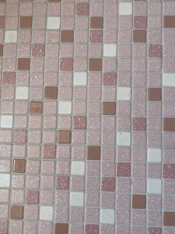 Pink mosaic tile