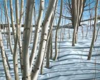 'Winter Birches, Mono Cliffs No.2' (2008) by Jamie Kapitain