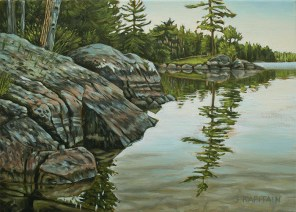'East Shore, Salmon Lake' (2013) by Jamie Kapitain