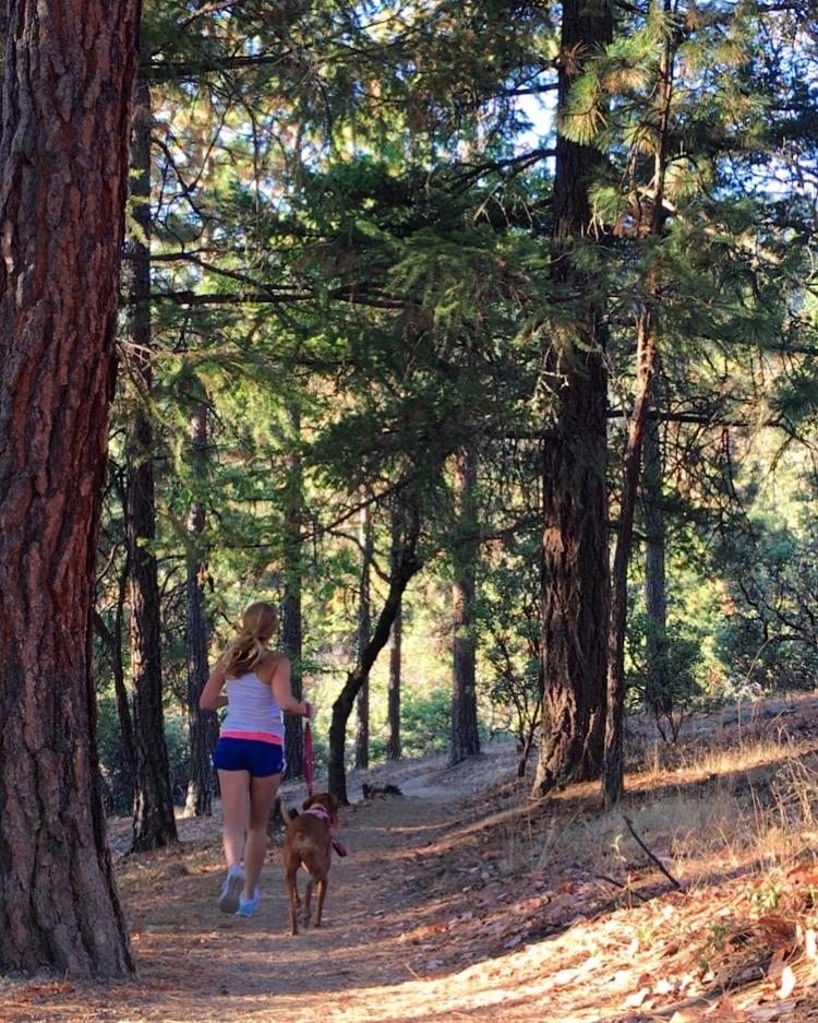 running and hiking Ashland Oregon