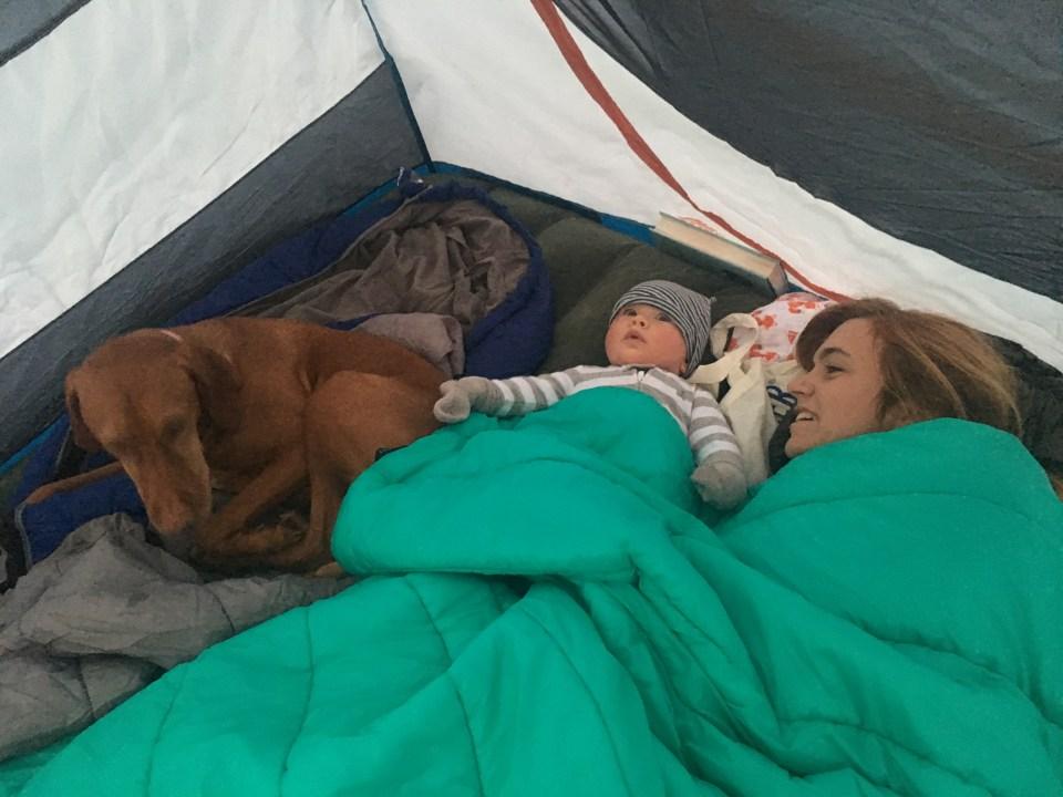 parent riot camping with babies
