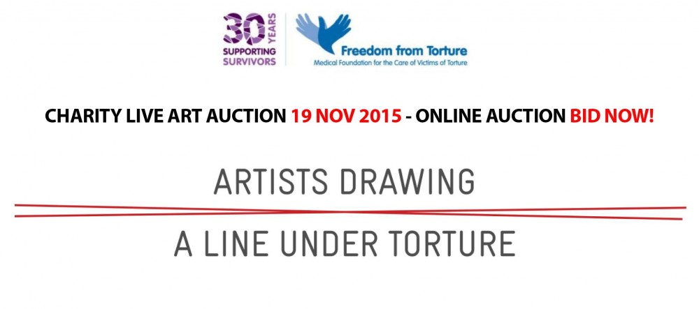 Artists Drawing a Line Under Torture - Charity Auction - 19 Nov 2015 LONDON Jamie McCartney