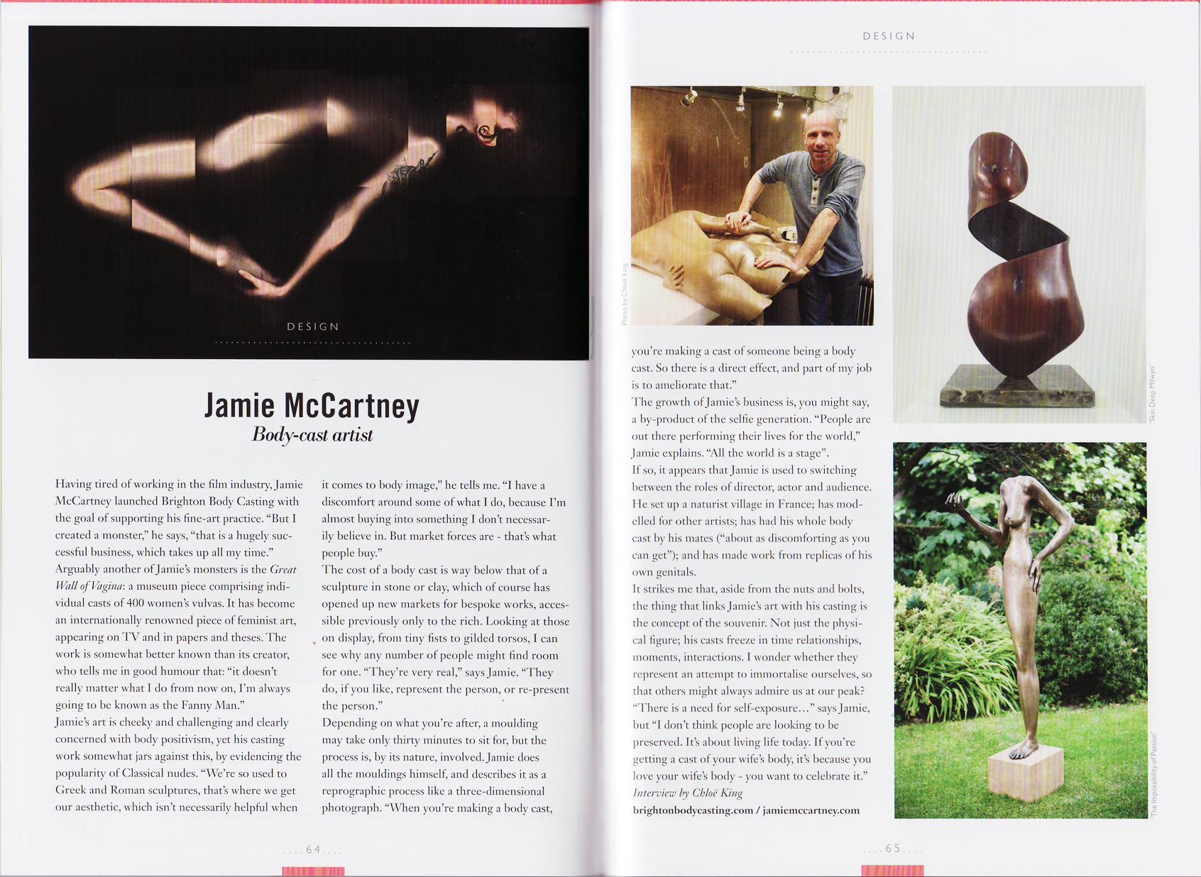 Viva Brighton Magazine Jamie McCartney