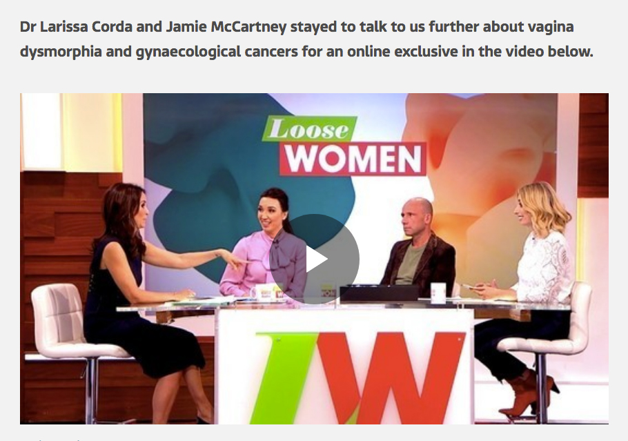 Loose Women Jamie McCartney