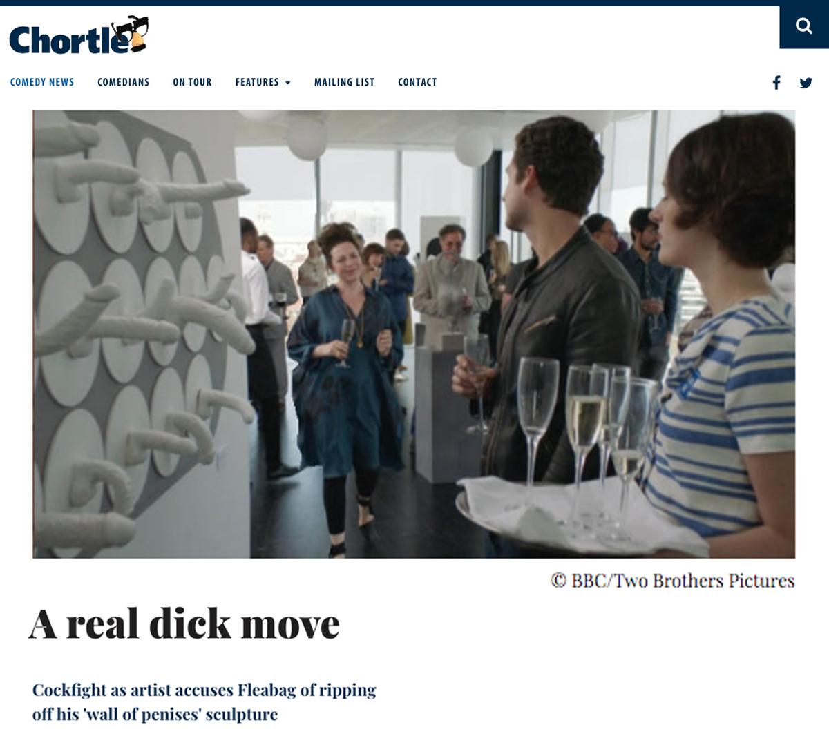 Chortle Comedy News on Fleabag copying Jamie McCartney's penis wall idea