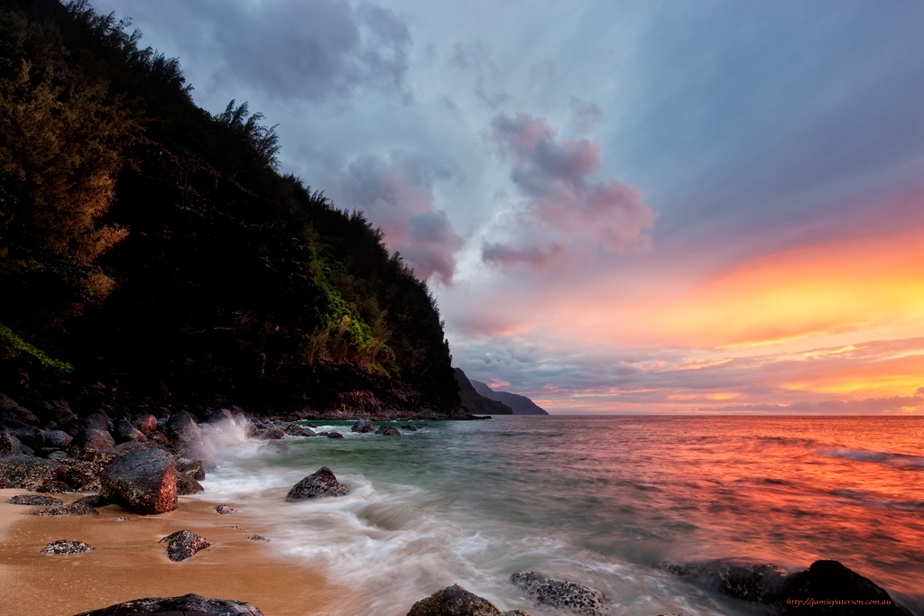 ke'e beach, kauai landscape photography, landscape photography, australian photographer, seascape photography