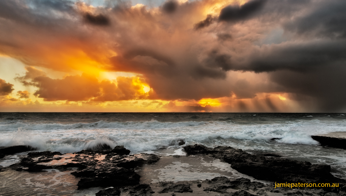 cottesloe beach, seascape photography, perth sunset, australian landscape photography