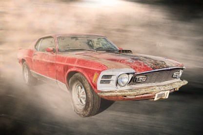 1970 Ford Mustang Mach 1 - Red & Rust