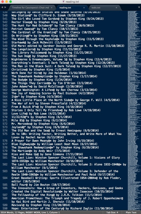Reading list text file