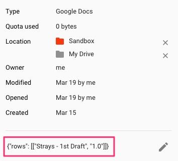 Google Docs Writing Tracker Project Info