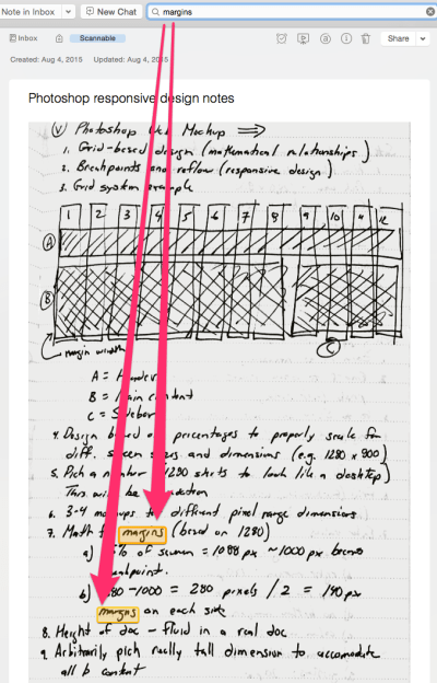 Searchable Notes