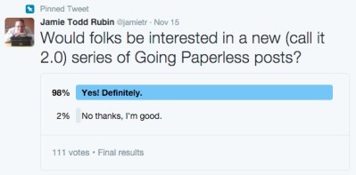 Going Paperless Poll Results