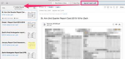 Evernote Zach Report Card