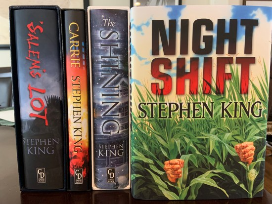 """My 4-volumes of Cemetery Dance's """"Stephen King: The Doubleday Day Years"""" collection."""