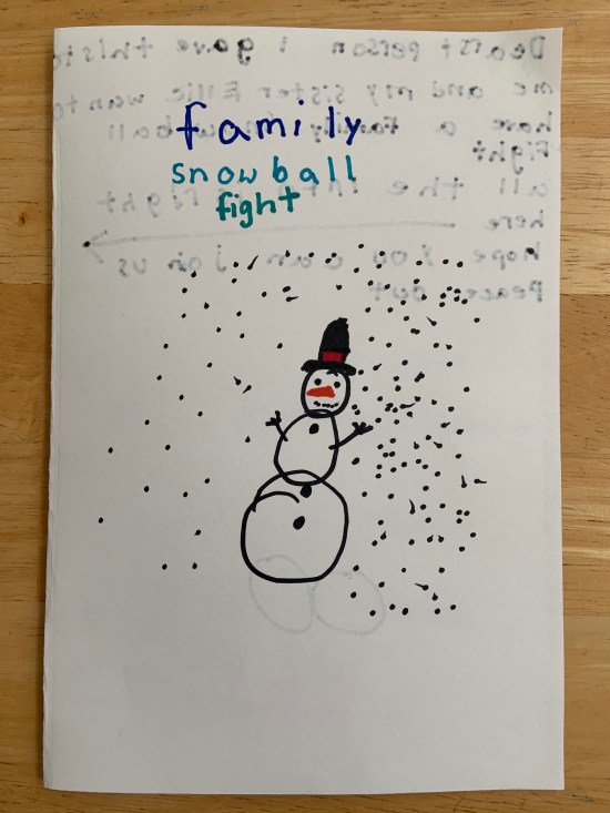 Snowball fight invitation