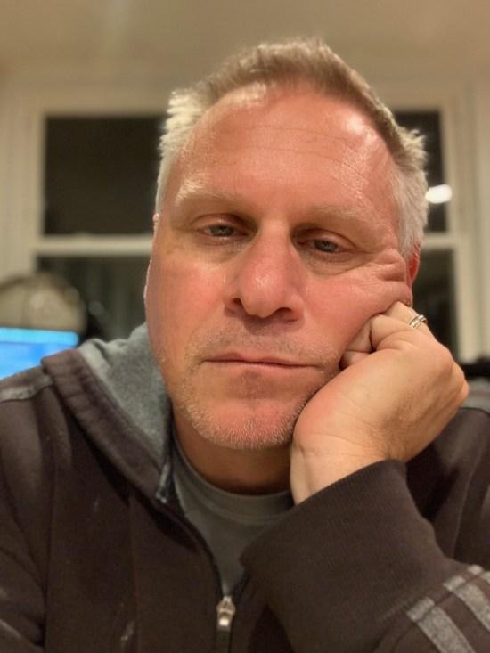 Portrait of a weary writer.