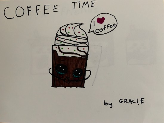 Coffee Time artwork by the Little Miss