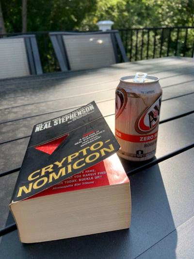 My paperback copy of Cryptonomicon by Neal Stephenson