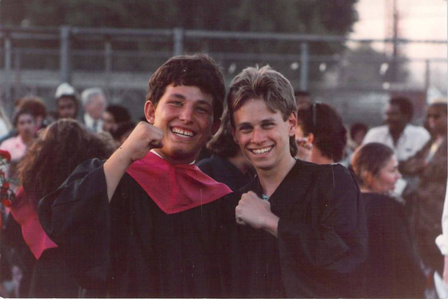 My friend Andy and me at our high school graduation.