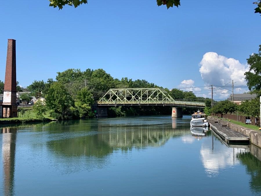 "the ""it's a wonderful life bridge"" in seneca falls, ny"
