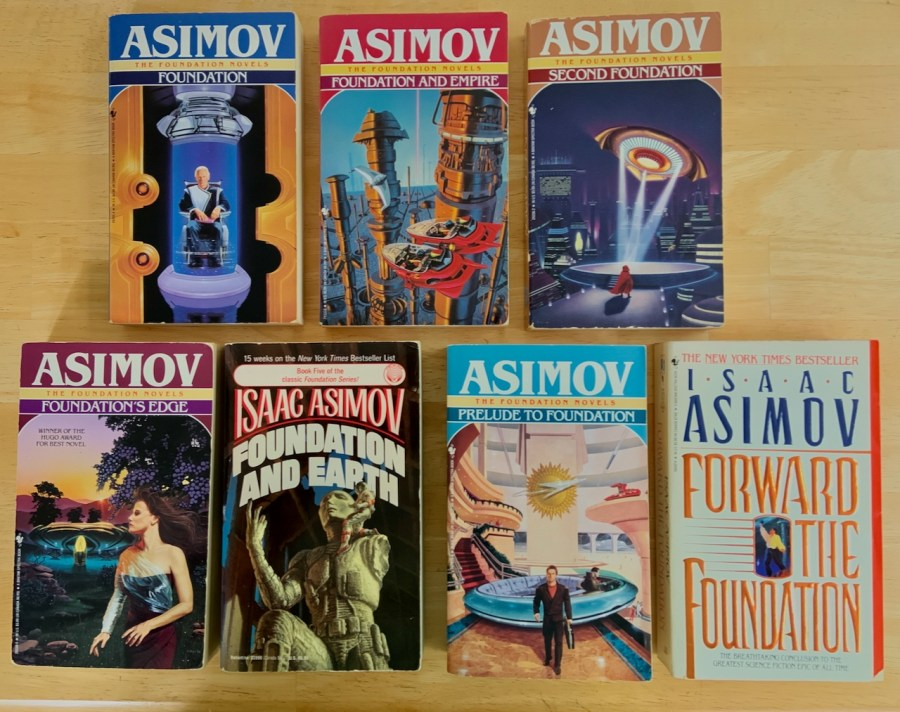 the 7 books asimov write in the foundation series
