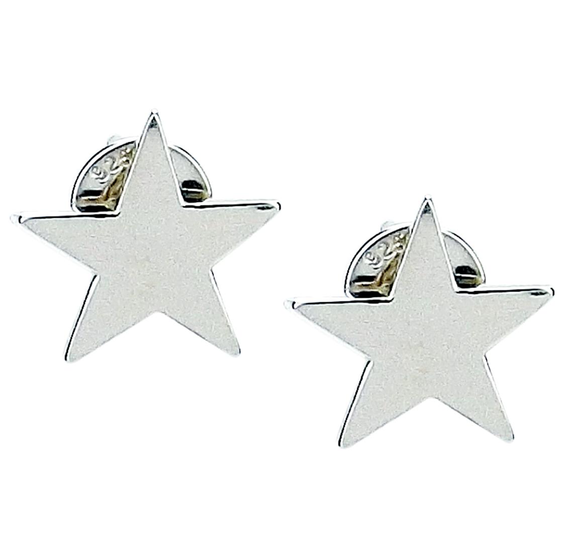Sterling Silver Star Shaped Stud Earrings