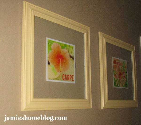DIY Floating Glass Frame