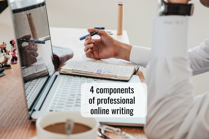 4 components of professional online writing