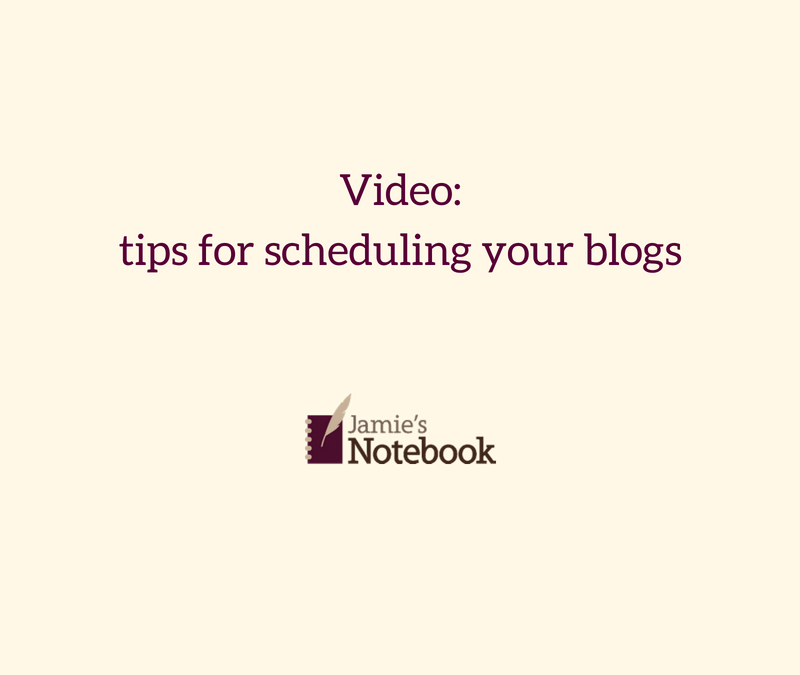 Video: tips for scheduling blog posts