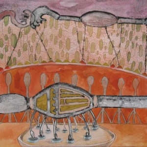 """Our Most Joyous Experiment, watercolor, colored pencil and marker on paper 16""""x12"""""""