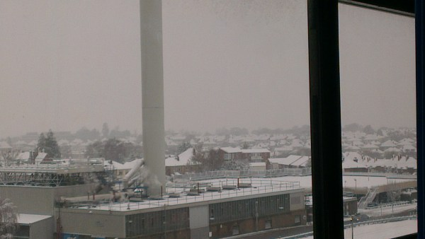 The Food may be rubbish, but today there is no staff because of the snow... Wait whats my point? Oh Yea even the Boiler building looks pretty in the snow