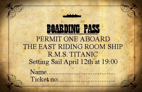 Ticket for The East Riding Room's Titanic Evening