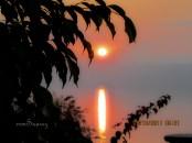 beautiful sunset at dead sea