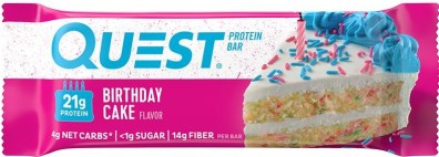 Quest Protein Bar Birthday Cake