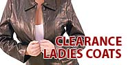Clearance Ladies Coats Featured by Jamin' Leather