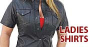 Ladies Shirts Featured by Jamin' Leather