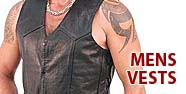 Mens Vests Featured by Jamin' Leather