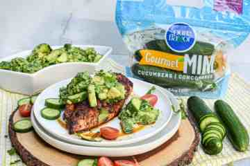 Whole30 Chipotle Lime Chicken with Cucumber Avocado Salad Pure Flavor Mini Cucumbers