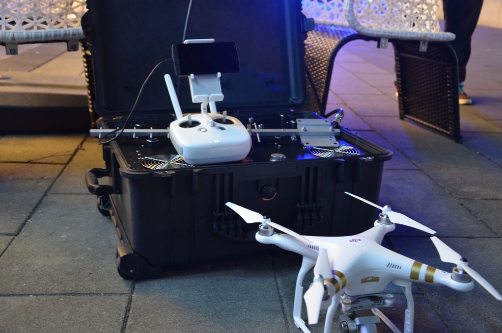 Portable drones jammer