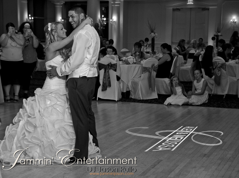 Melissa and Alex share their first dance at The Willow Room in Belle Vernon. By DJ Jason Rullo