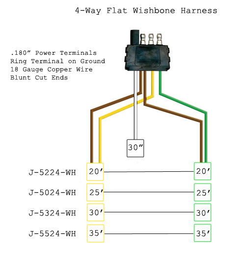 6 way flat trailer wiring diagram 3 ways switches a 4 harness 31 images for 5
