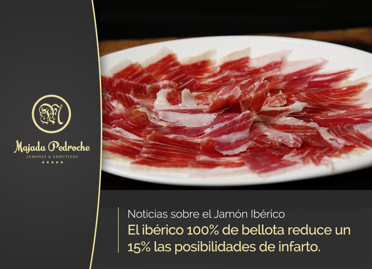 El jamón de bellota 100% ibérico reduce un 15% las posibilidades de infarto