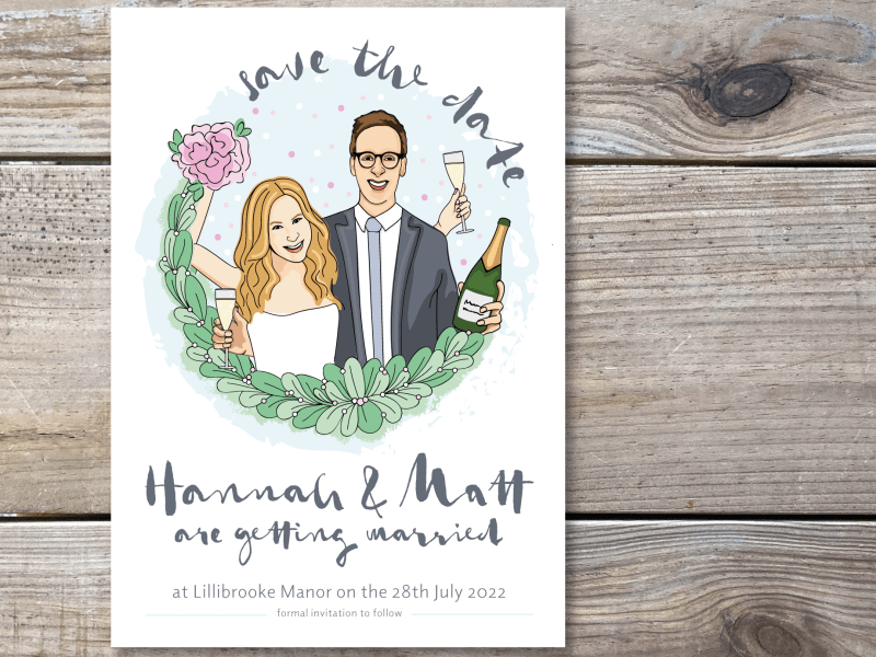Save the Date Wedding Invitation Design