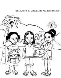 Environmental-themed Coloring Book for Haiti - JAMSBooks