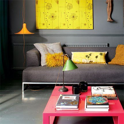 Neon Trend Home Decor Ideas Modern Edgy Yellow Coral Gray Cheerful