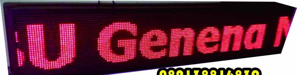 Running Teks Toko, Lampu LED berjalan, Papan Digital Berjalan, LED lessen, LED Matrix, Lampu LED murah, Contoh Lampu LED Berjalan, Papan pengumuman Digital