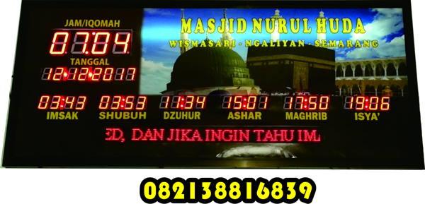 Jam Jadwal Sholat Digital HDT Jumbo