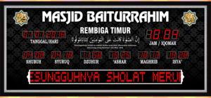 Jual jam jadwal sholat digital masjid murah di tambun pusat