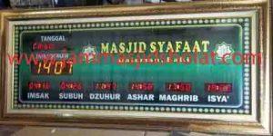 jual jam jadwal sholat digital masjid murah di cikarang selatan
